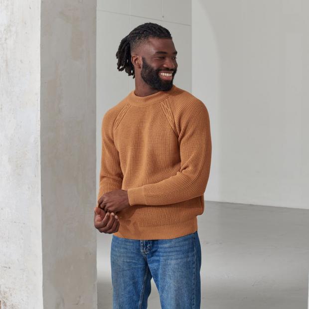 Pull mixte en laine mérinos et acrylique