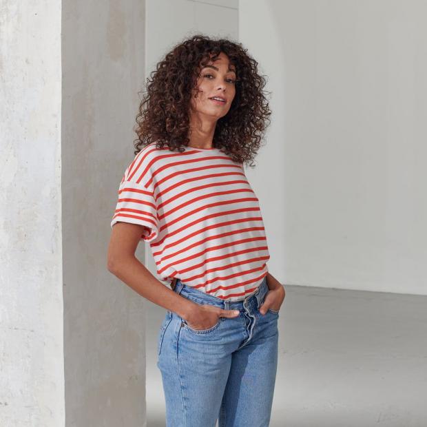 T-Shirt aus Lyocell und Baumwolle