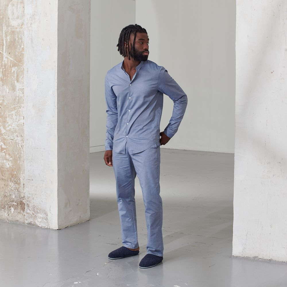 Pyjama Bas Homme Chambray Le Slip Français