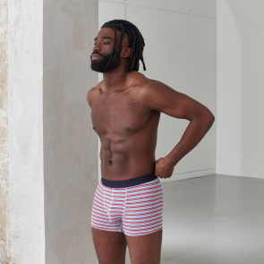 Striped boxer shorts in cotton