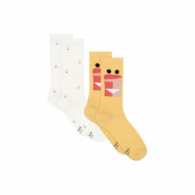 Duo de chaussettes mi-hautes en coton bio