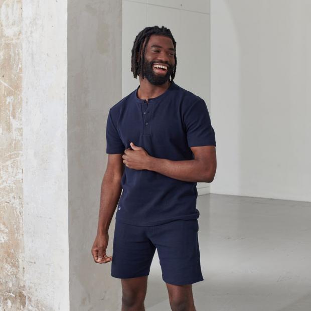 T-shirt en coton bio texturé