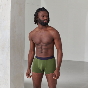 Plain boxer shorts in organic cotton