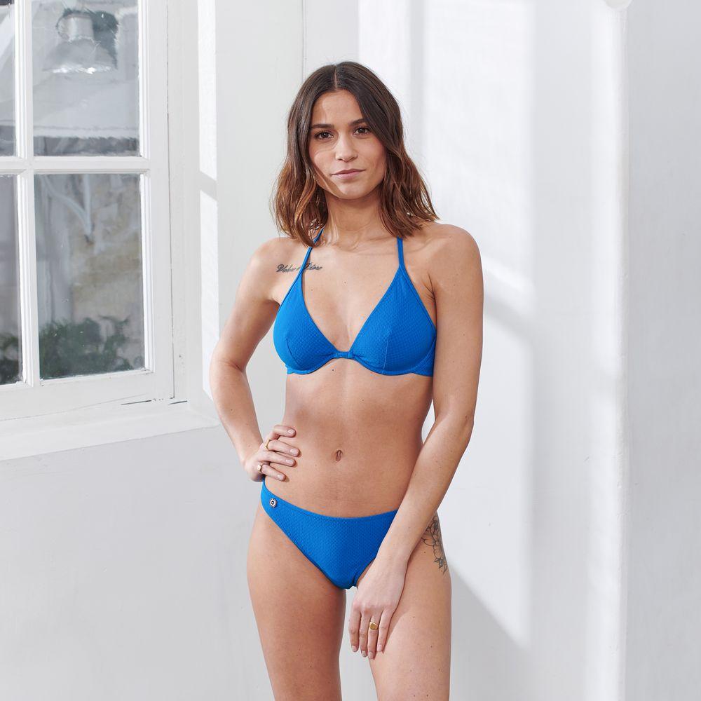 Haut De Maillot Femme Bleu Gascon Le Slip Français