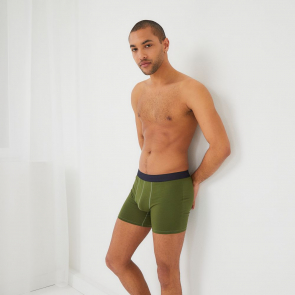 Long plain boxer shorts in organic cotton