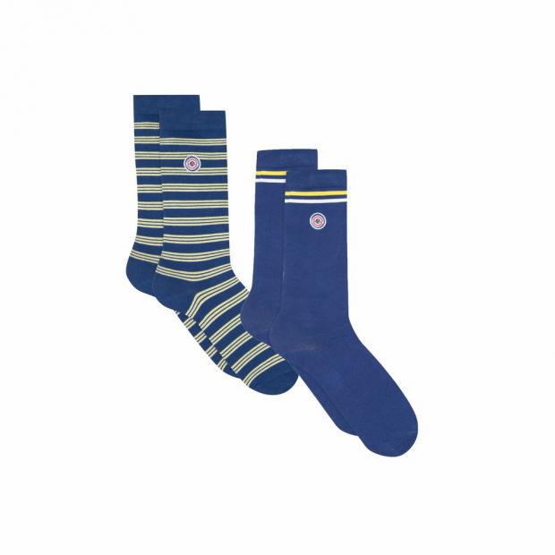 Duo von halbhohen Socken aus Bio-Baumwolle