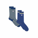 Lucas Duo Duo of half-high socks in organic cotton