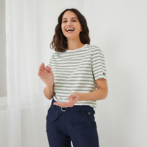 Striped T-shirt, short sleeves