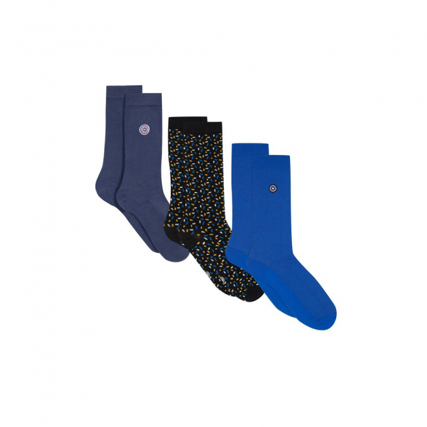 Trio de chaussettes mi-hautes en coton bio