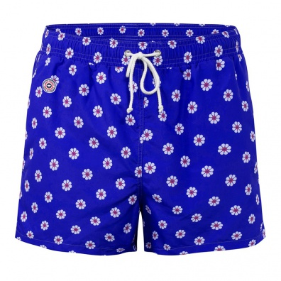 SWIM WEAR - Le Haddock Pâquerette -Blue swim short with pattern
