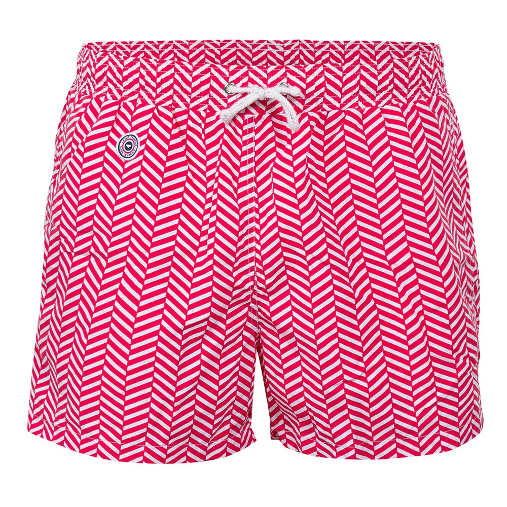 Chevron Rouge - Red Swim Shorts