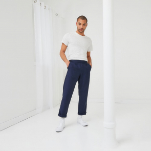 Organic cotton and linen trousers