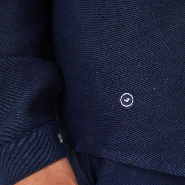Linen and organic cotton shirt