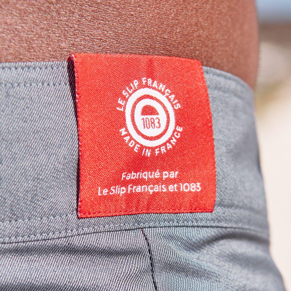 Short De Bain Homme Bleu Denim Le Slip Français