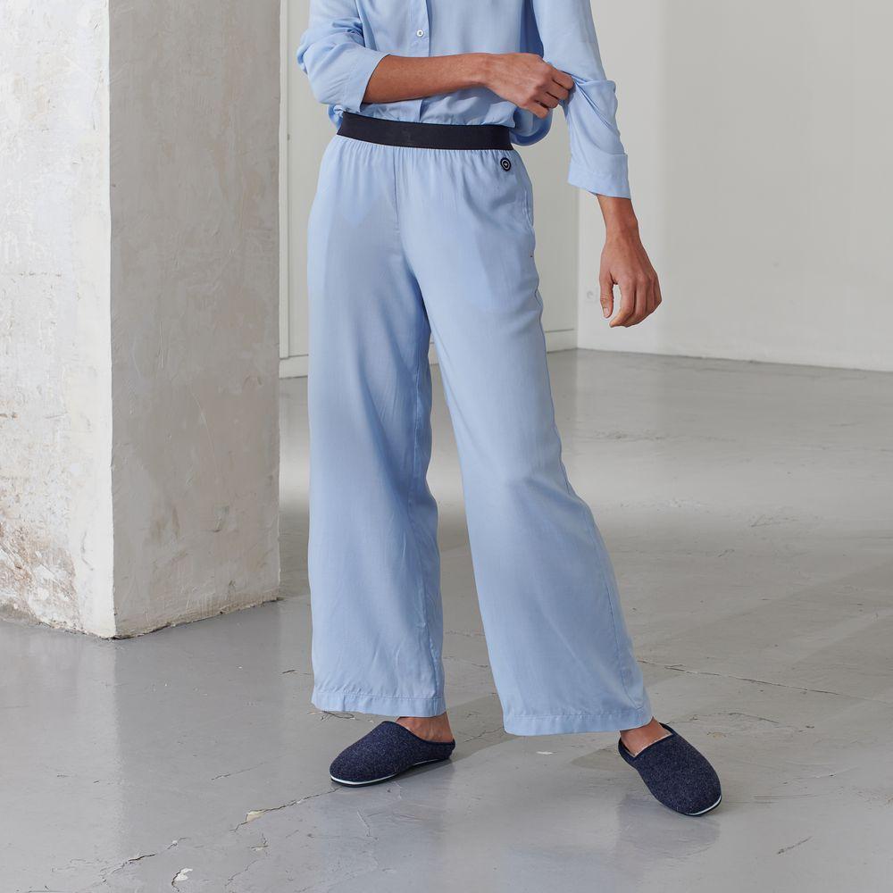 Pyjama Bas Femme Bleu Aigue Le Slip Français