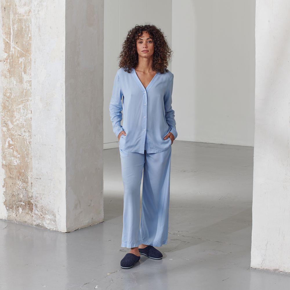 Pyjama Haut Femme Bleu Aigue Le Slip Français