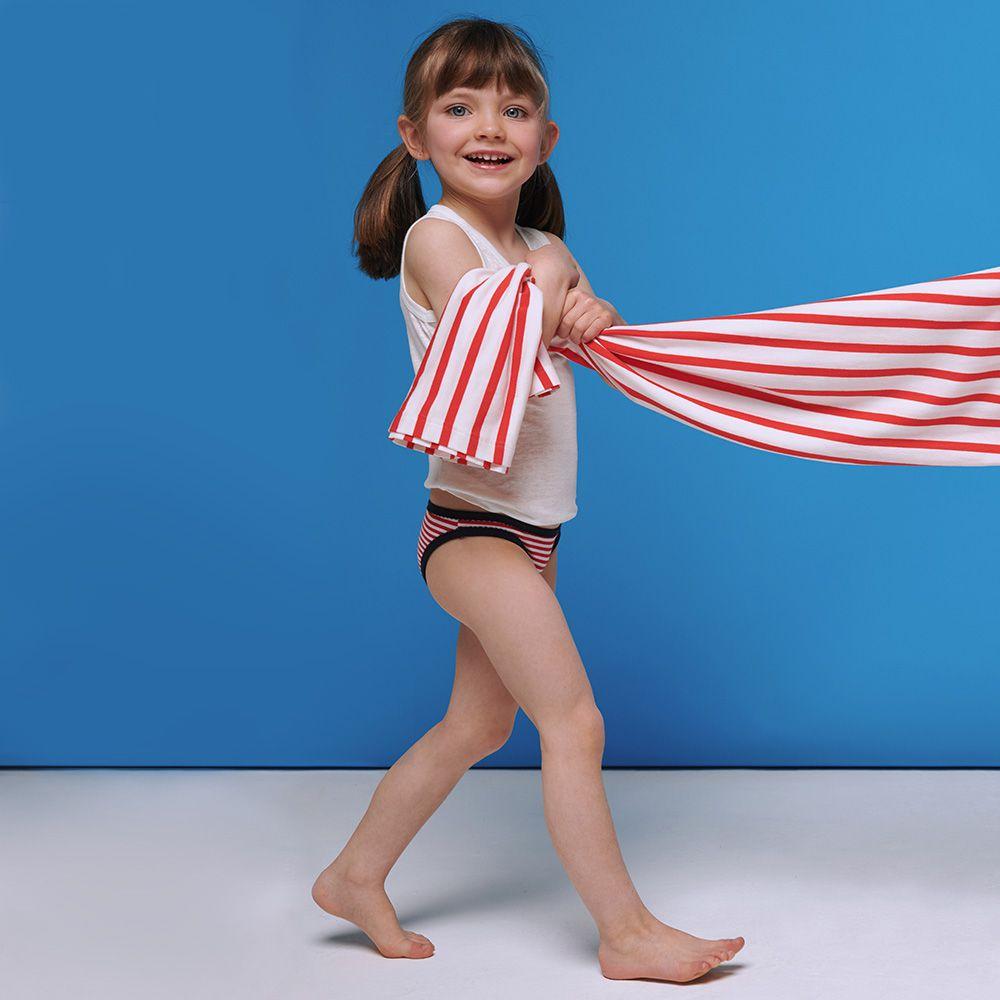 Culotte Enfant Mariniere Lsf Rouge Le Slip Français