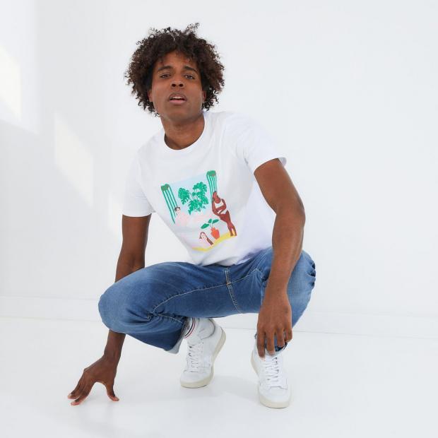 Short-sleeved cotton T-shirt