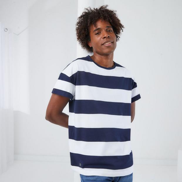 T-shirt en lyocell/coton