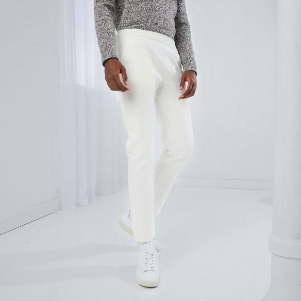 Linen/cotton blend trousers