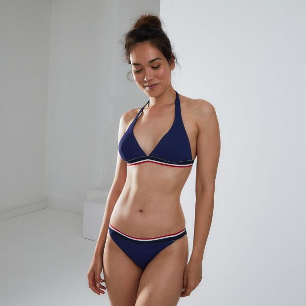 Polyamide triangle bikini top