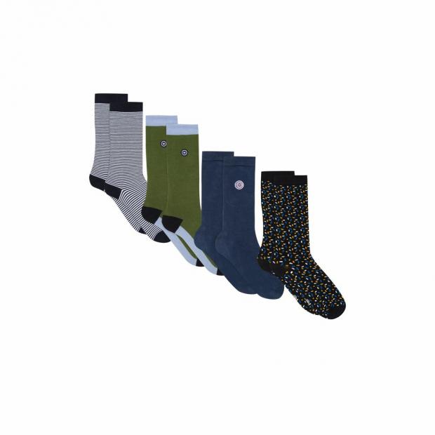 Quatro de chaussettes mixtes mi-hautes en coton bio