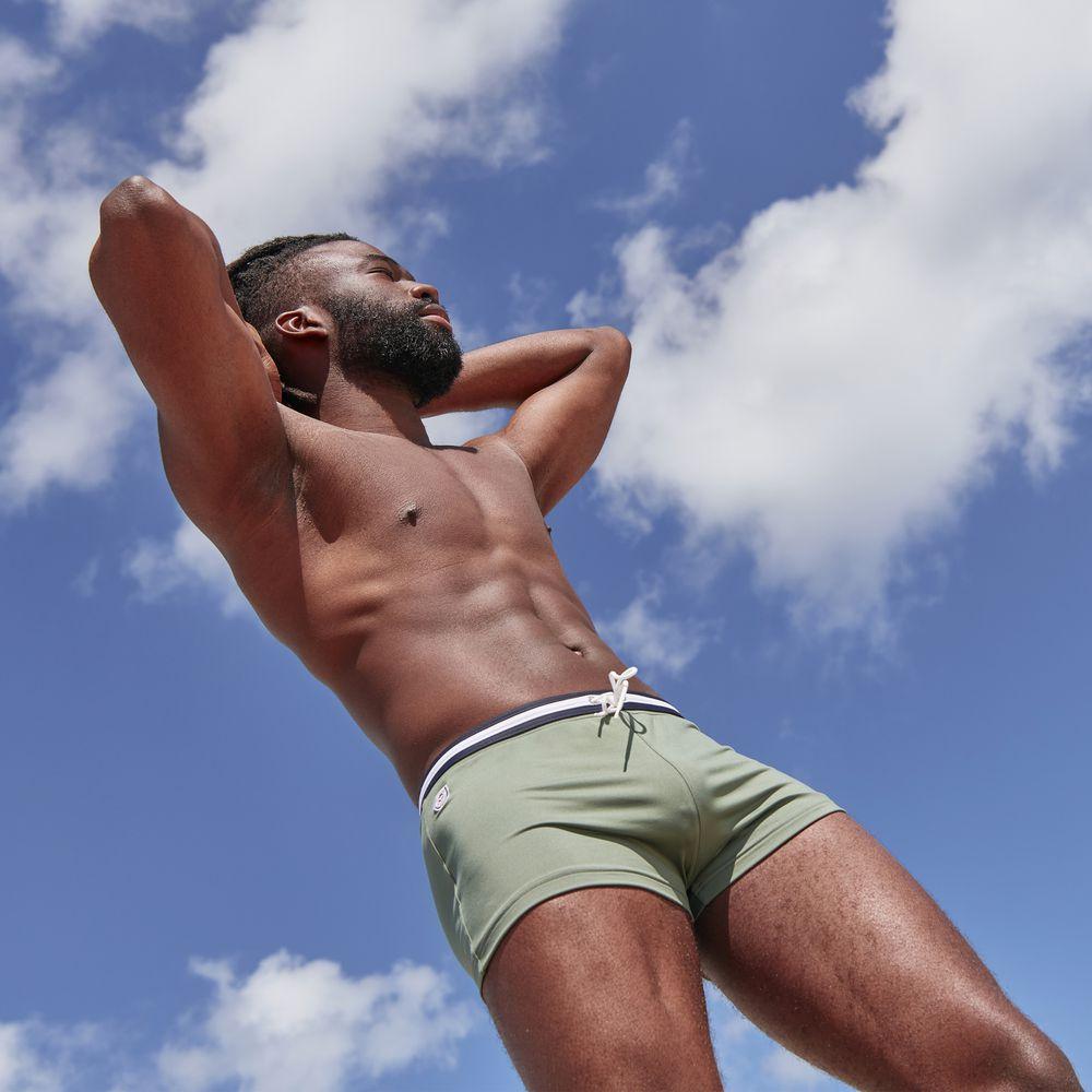 Boxer De Bain Homme Vert Olivine Le Slip Français