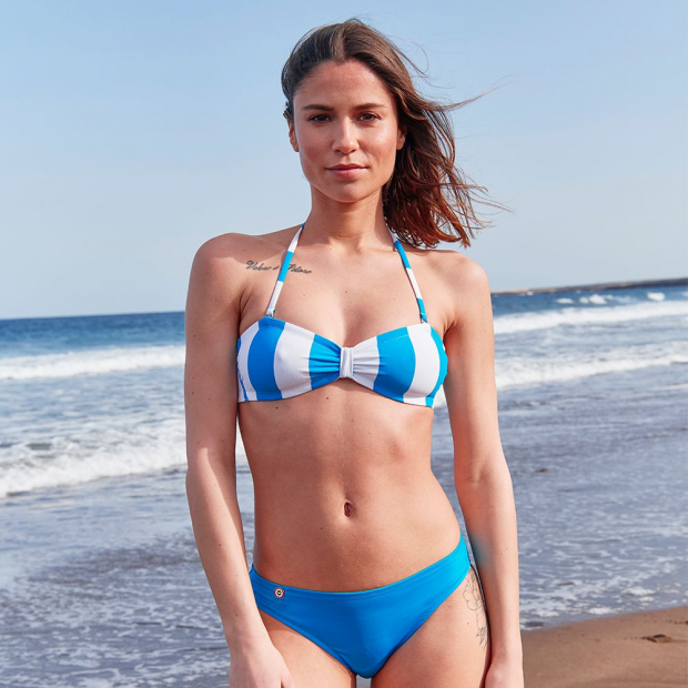 Bandeau swimming suit top in polyamide