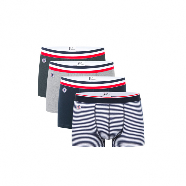 Quatro de boxers en coton