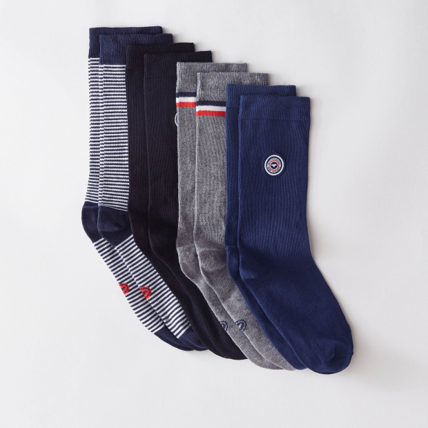 Quatro de chaussettes mixtes en coton