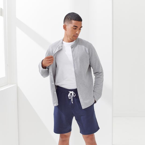 Mixed fleece shorts