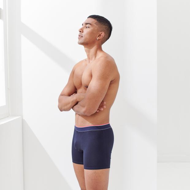 Long cotton boxer shorts