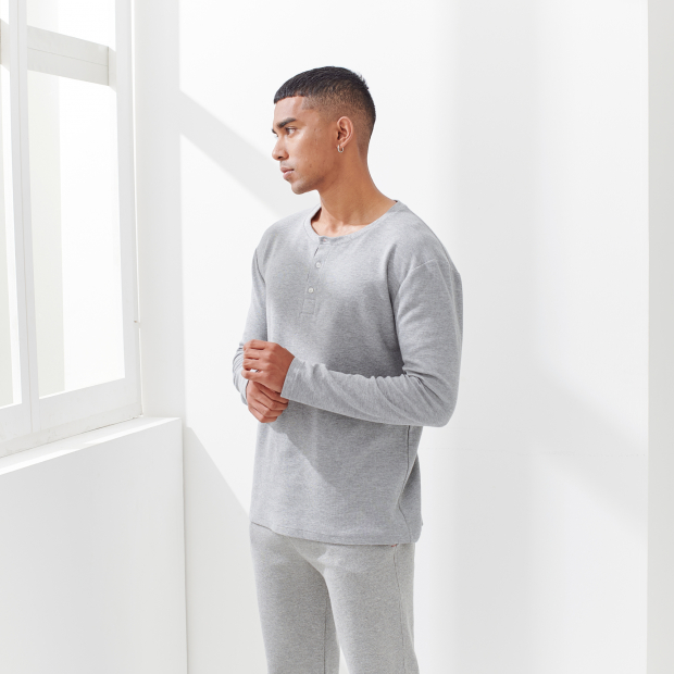 T-shirt de pyjama en coton gaufré