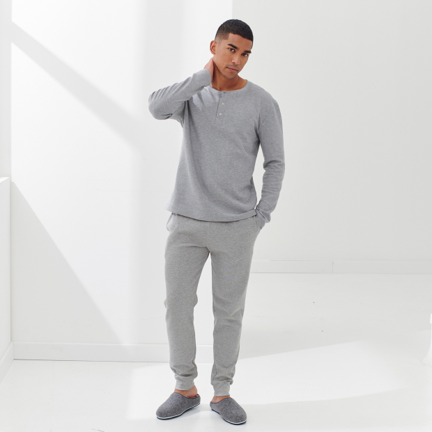 Pyjama-T-Shirt mit Baumwollprägung