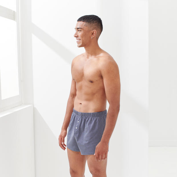 Gemusterte Jersey-Boxershorts