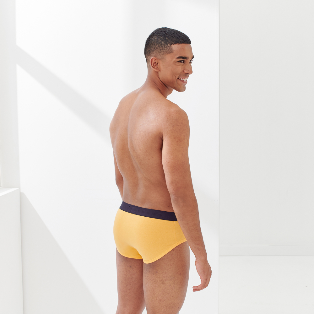 Sous Vetement Pack Homme Jaune Aspen/Arty/Mar Le Slip Français