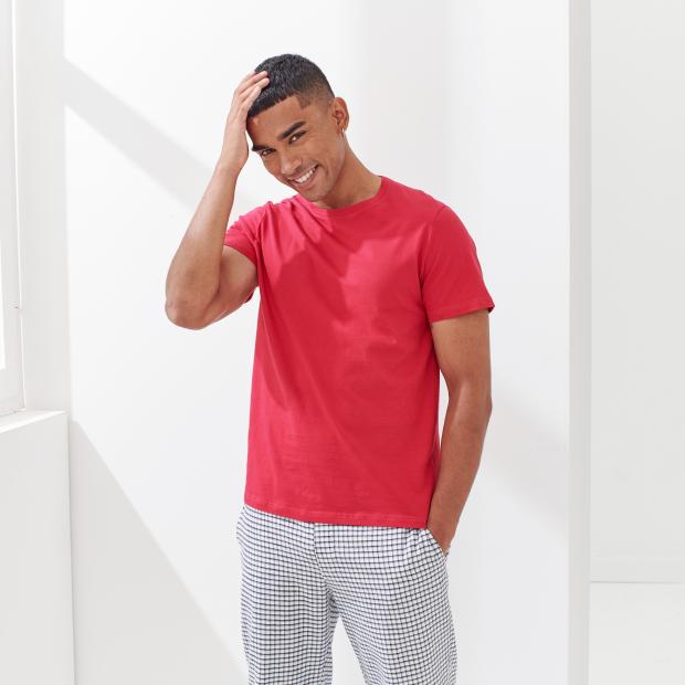 Kurzarm-T-Shirt aus Baumwolle