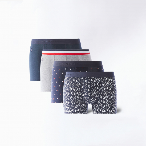 Pack of four cotton boxers