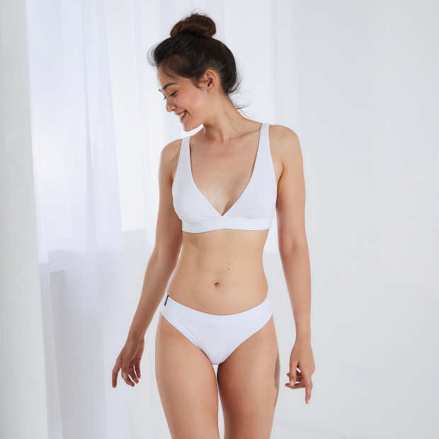Unwired scarf bra in milano cotton