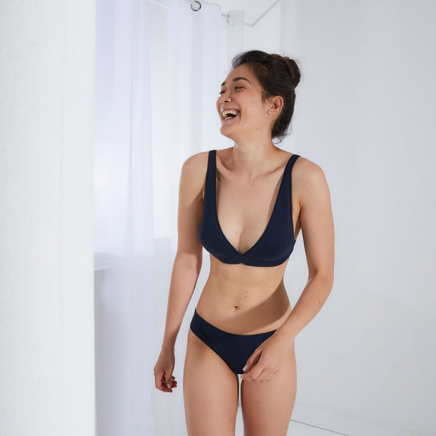 Scarf bra without underwire in milano cotton