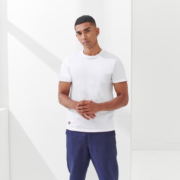 T-shirt mixte col rond en coton