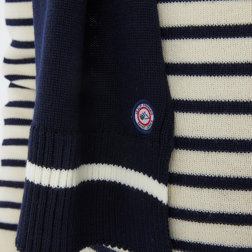 Echarpe Gant Et Chap Mixte Navy/Ocre Le Slip Français