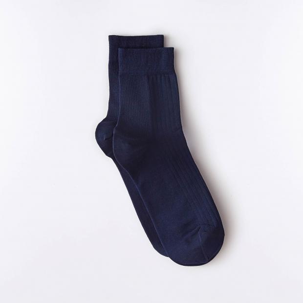 Chaussettes basses en fil d'Écosse