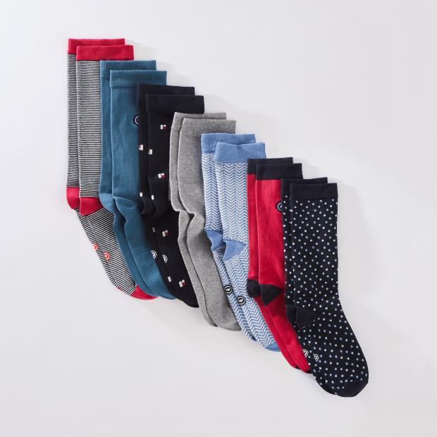 Pack de chaussettes mi-hautes en coton responsable