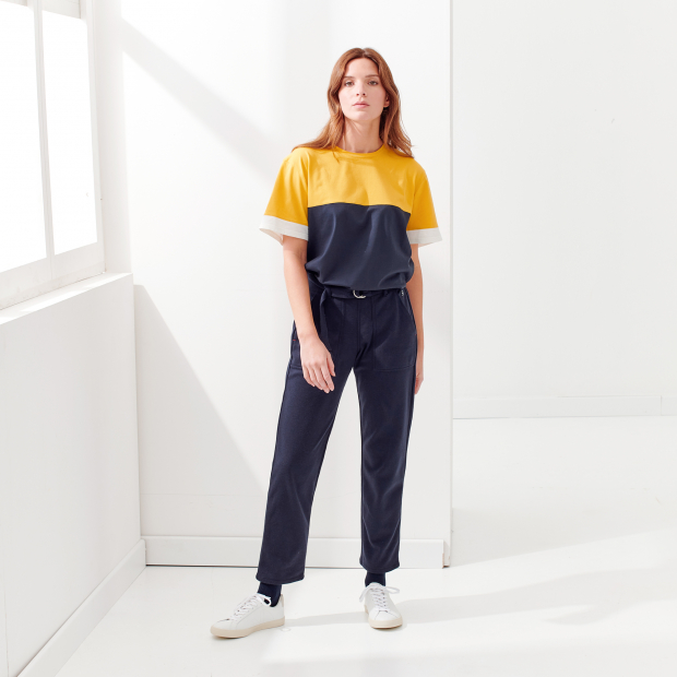 T-Shirt aus Baumwolle/Elastan