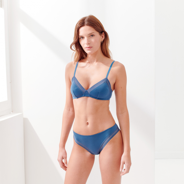 Triangle-bra without frame in lyocell