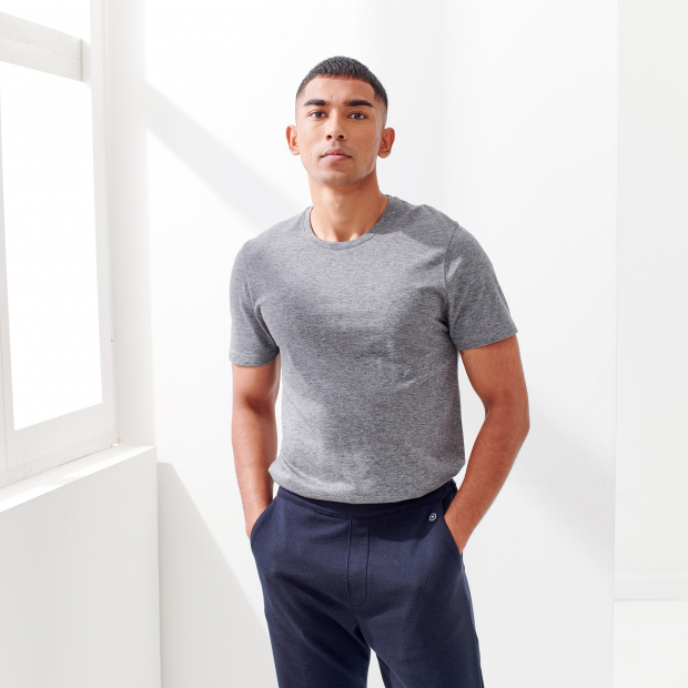 Wool and cotton T-shirt