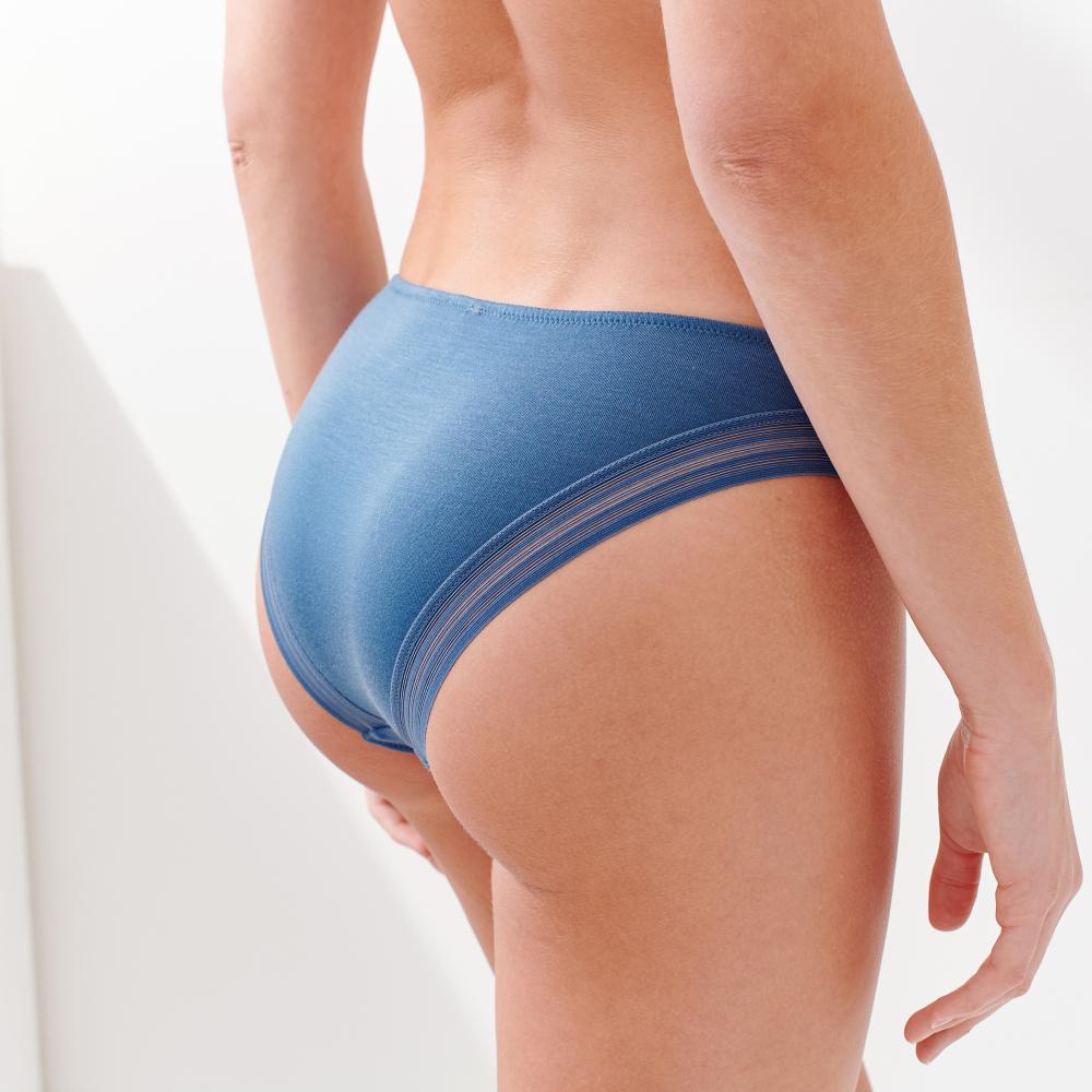 Culotte Et Bas Femme Bleu Horizon Le Slip Français