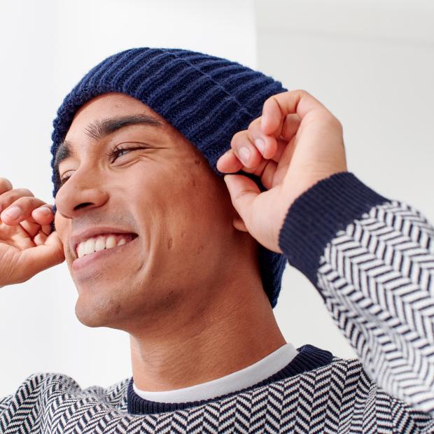 Mütze aus recycelter Wolle