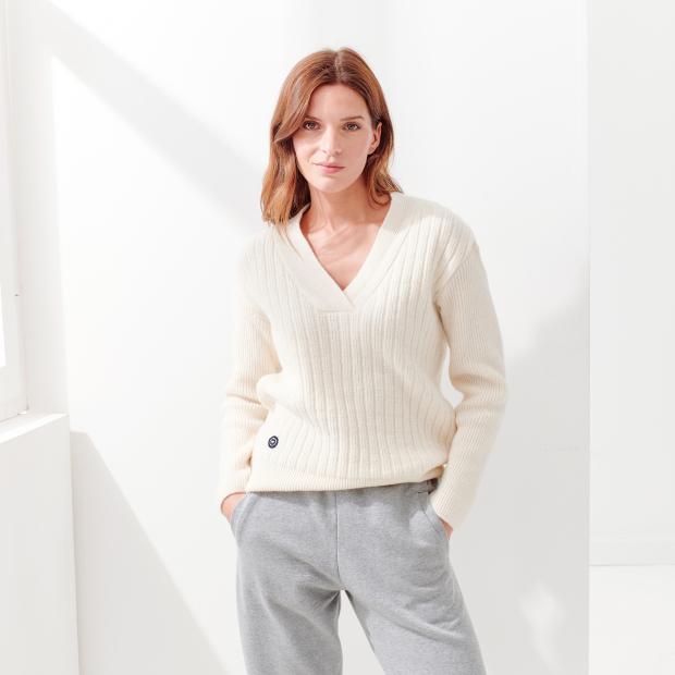 Pullover für Frauen 100% Wolle